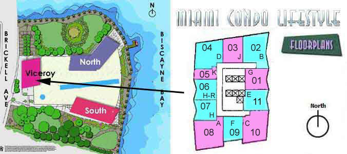 ICON Brickell W Miami Key Plan