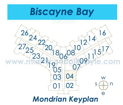 Mondrian South Beach Condos - Keyplan