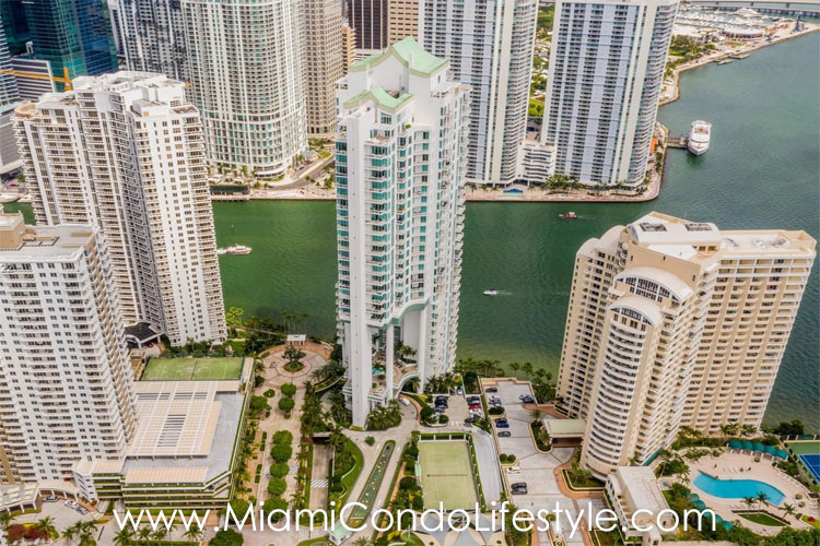 Asia Brickell Key Aerial View