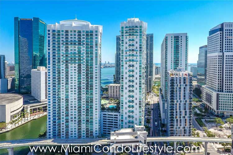Brickell on the River North Aerial