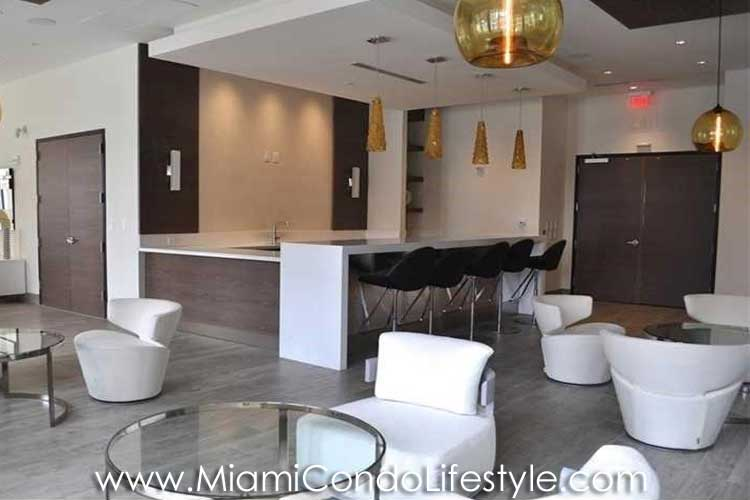 NINE Mary Brickell Village Clubroom