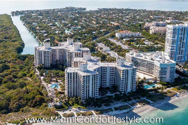 Towers of Key Biscayne Aerial View
