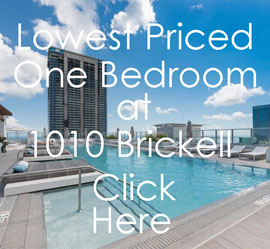 1010 Brickell - Lowest price one bedroom